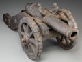 Decorative Arts, Continental:Other , An Iron Cannon Model. 12 h x 27-1/2 w x 11-1/2 d inches (30.5 x69.9 x 29.2 cm). ...