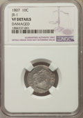 Early Dimes, 1807 10C JR-1, R.2, -- Damaged -- NGC Details. VF. NGC Census:(4/210). PCGS Population: (3/8). CDN: $1,300 Whsle. Bid for ...
