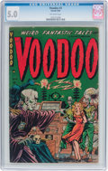 Golden Age (1938-1955):Horror, Voodoo #3 (Farrell, 1952) CGC VG/FN 5.0 Off-white pages....