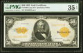 Large Size:Gold Certificates, Fr. 1200 $50 1922 Gold Certificate PMG Choice Very Fine 35 EPQ.. ...