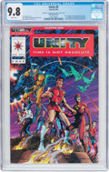 Modern Age (1980-Present):Superhero, Unity #0 Red Logo Variant (Valiant, 1992) CGC NM/MT 9.8 White pages....