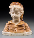 Decorative Arts, Continental:Other , After Affortunato Gory (French/Italian). Youth. Marble. 12 inches (30.5 cm) high. Inscribed on reverse: A. Gory. P...