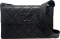 Luxury Accessories:Bags, Chanel Black Quilted Lambskin Leather Shoulder Bag...