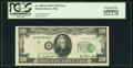 Error Notes:Shifted Third Printing, Fr. 2060-D $20 1950A Federal Reserve Note. PCGS Extremely Fine 45PPQ.. ...