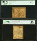 Colonial Notes:Continental Congress Issues, Continental Currency February 17, 1776 $1/6 PMG Choice ExtremelyFine 45 and PCGS $1/3 PCGS Extremely Fine 45.. ... (Total: 2 notes)