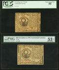 Continental Currency Pair May 10, 1775 $30 PCGS Choice About New 55 and November 2, 1776 $30 PMG About Uncirculated 53 E...