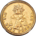 Mexico, Mexico: Republic gold 10 Pesos 1878 Ho-A VF Details (Removed fromJewelry) NGC,...