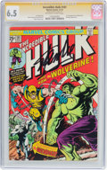 Bronze Age (1970-1979):Superhero, The Incredible Hulk #181 Signature Series (Marvel, 1974) CGC FN+6.5 Off-white to white pages....