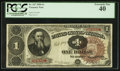 Large Size:Treasury Notes, Fr. 347 $1 1890 Treasury Note PCGS Extremely Fine 40.. ...