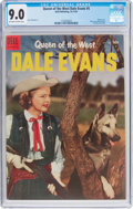 Golden Age (1938-1955):Western, Queen of the West Dale Evans #5 (Dell, 1954) CGC VF/NM 9.0Off-white to white pages....