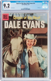 Queen of the West Dale Evans #14 (Dell, 1957) CGC NM- 9.2 Off-white to white pages
