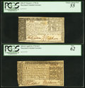 Colonial Notes:Maryland, A Maryland Pair April 10, 1774 $1/3 PCGS New 62 and March 1, 1770$4 PCGS Choice About New 55.. ... (Total: 2 notes)