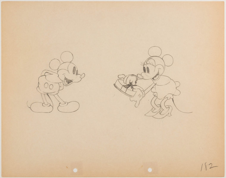 Puppy Love Mickey Mouse And Minnie Mouse Animation Drawing Walt