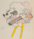 Animation Art:Production Drawing, Moose Hunters Mickey Mouse Animation Drawing (Walt Disney, 1937). ...