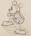 Animation Art:Production Drawing, On Ice Mickey Mouse Animation Drawing (Walt Disney, 1935)....
