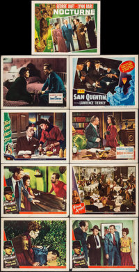 """Ride the Pink Horse & Others Lot (Universal International, 1947). Lobby Cards (9) (11"""" X 14""""). Film No..."""