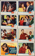 """Movie Posters:Drama, Three Steps North & Other Lot (United Artists, 1957). Overall:Very Fine-. Lobby Card Set of 8 (11"""" X 14"""") with Origi..."""