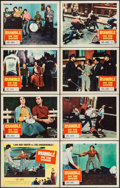 """Movie Posters:Exploitation, Rumble on the Docks (Columbia, 1956). Lobby Card Set of 8 (11"""" X14""""). Exploitation.. ... (Total: 8 Items)"""