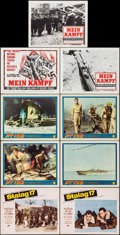 "Movie Posters:War, Stalag 17 & Others Lot (Paramount, 1953). Lobby Cards (8) &Title Card (11"" X 14""). War.. ... (Total: 9 Items)"