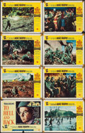 "Movie Posters:War, To Hell and Back (Universal International, 1955). Lobby Card Set of8 (11"" X 14""). War.. ... (Total: 8 Items)"