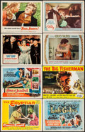 "Movie Posters:Historical Drama, The Egyptian & Others Lot (20th Century Fox, 1954). Lobby Cards(21), Lobby Card Sets of 8 (2), & Title Cards (4) (11"" X 14""...(Total: 41 Items)"