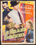 "Movie Posters:Film Noir, The Big Sleep (Warner Brothers, 1947). Trimmed Belgian (14"" X 18""). Film Noir.. ..."