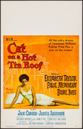 """Movie Posters:Drama, Cat on a Hot Tin Roof (MGM, 1958). Window Card (14"""" X 22""""). Drama....."""