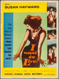 "Movie Posters:Drama, I Want to Live! (United Artists, 1958). Poster (30"" X 40"") Style Y.Drama.. ..."