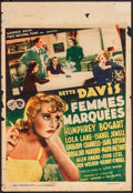 "Movie Posters:Crime, Marked Woman (Warner Brothers, 1937). Pre-War Belgian (10.5"" X15.5""). Crime.. ..."