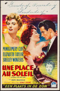 "Movie Posters:Drama, A Place in the Sun (Paramount, 1951). Belgian (14"" X 21.5""). Drama.. ..."