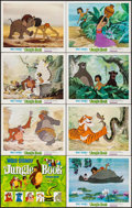"Movie Posters:Animation, The Jungle Book (Buena Vista, 1967). Title Lobby Card & LobbyCards (7) (11"" X 14""). Animation.. ... (Total: 8 Items)"
