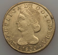 Colombia, Colombia: Republic Gold 8 Escudos 1830-UR XF - Cleaned PlanchetFlaws,...