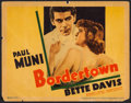 "Movie Posters:Crime, Bordertown (Warner Brothers, 1935). Linen Finish Title Lobby Card(11"" X 14""). Crime.. ..."