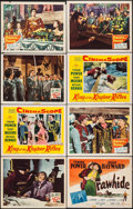 """Movie Posters:Swashbuckler, The Mark of Zorro & Others Lot (20th Century Fox, R-1946). Lobby Cards (6) & Title Card (11"""" X 14""""). Swashbuckler.. ... (Total: 7 Items)"""
