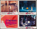 "Movie Posters:Animation, Cinderella (Buena Vista, R-1957). Title Lobby Card & Lobby Cards (3) (11"" X 14""). Animation.. ... (Total: 4 Items)"