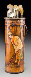 Decorative Arts, British:Other , A McCormick Mfg. Co. Golf Bag Biscuit Tin, circa 1913. 10-5/8inches high (27.0 cm). Property from the Estate of Charles S...