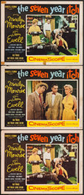 "Movie Posters:Comedy, The Seven Year Itch (20th Century Fox, 1955). Lobby Cards (3) (11""X 14""). Comedy.. ... (Total: 3 Items)"