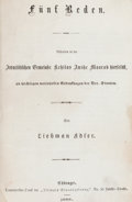 Books:Judaica, [Abraham Lincoln, subject]. Liebman Adler. F...
