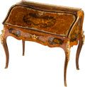 Furniture : French, A Louis Grade Louis XV-Style Marquetry Bureau de Dame, thirdquarter 19th century. Marks to lockplate: Grade, L, R de laP...