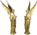 Decorative Arts, Continental:Other , A Pair of Continental Bronze Angel Figures. 28-3/4 inches high(73.0 cm). ... (Total: 2 Items)