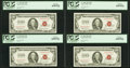Fr. 1550 $100 1966 Legal Tender Notes. Four Consecutive Examples. PCGS Gem New 65PPQ
