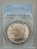 Peace Dollars: , 1923-S $1 MS64 PCGS. PCGS Population: (2235/159). NGC Census:(1893/80). CDN: $330 Whsle. Bid for problem-free NGC/PCGS MS6...