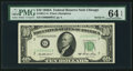 Small Size:Federal Reserve Notes, Serial Number One Fr. 2011-G $10 1950A Federal Reserve Note. PMG Choice Uncirculated 64 EPQ.. ...
