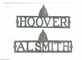 Political:3D & Other Display (pre-1896), Matching Pair of Hoover and Smith License Attachments. Theautomobile has long been a popular place for people to advertise... (Total: 2 )