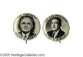 "Political:Pinback Buttons (1896-present), Rare Matched Pair of 1948 Truman & Barkley 7/8"" Buttons. Onlyonce before have we had this super pair. The Truman version al..."
