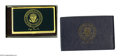 Political:Miscellaneous Political, President George H. W. Bush Presentation Business Card Holder Thecard holder has the Presidential Seal and signature on t...