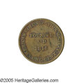 Antiques:Black Americana, 1833 Liberian Copper Coin Commemorating the 1816 Founding of theAmerican Colonization Society. This novel movement sought t...