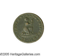"1838 U.S. Anti-Slavery Copper Token. ""Am I not a woman and a sister?"" Low 54, HT-81. Very fine. Diameter 27mm..."