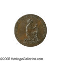 """Antiques:Black Americana, C. 1796 English Anti-Slavery Medal. """"Am I not a man and a brother?""""/ """"May slavery and oppression cease throughout the world..."""