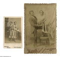 Antiques:Black Americana, Two Images of Black 'Curiosities'. A terrific pair of photographs.The first is a CDV of Millie and Christine, conjoined twi...(Total: 2 )